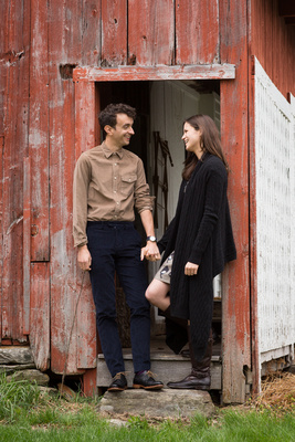 Creative, whimsical engagement session in Williamsville, Vermont.